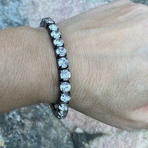 ⚡️Large rhinestone bracelet in black background